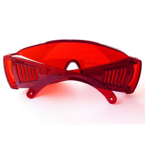Красные защитные очки с красной оправой для фотоэпиляции