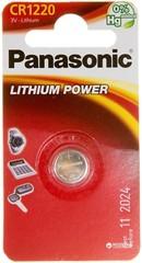 Батарейки литиевые Panasonic CR 1220 BL1