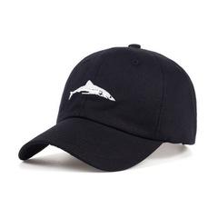 Кепка с акулой черная (Бейсболка с акулой черная)