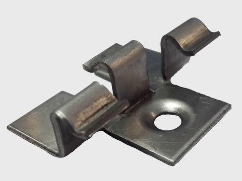 Кляймер металлический для террасных досок Deckron, Darvolex, Ecodeck. (GARDECK)