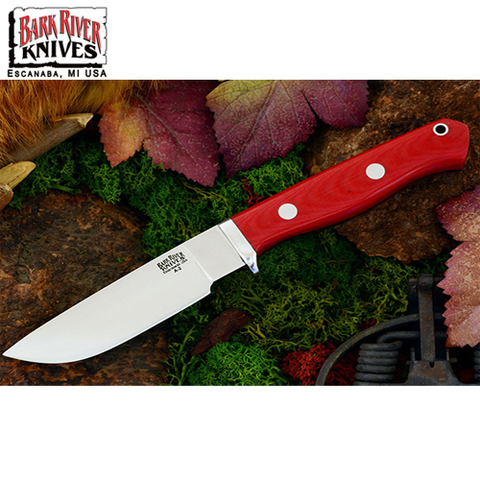 Нож Bark River модель Gameskeeper Red Linen Micarta