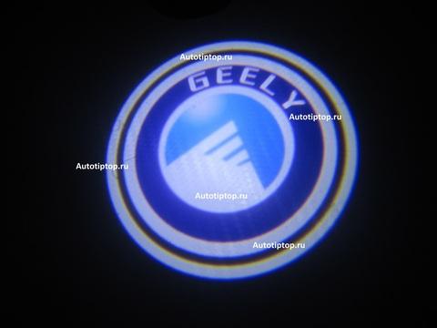 Лазерная проекция с логотипом Geely - Джили