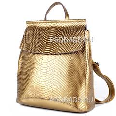 Рюкзак женский JMD Snake 3204 Золотой