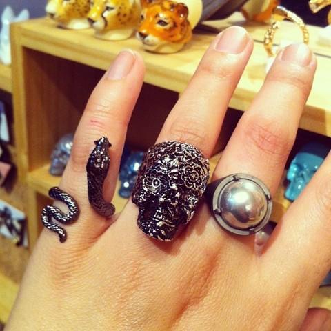Кольцо Змея (черная)
