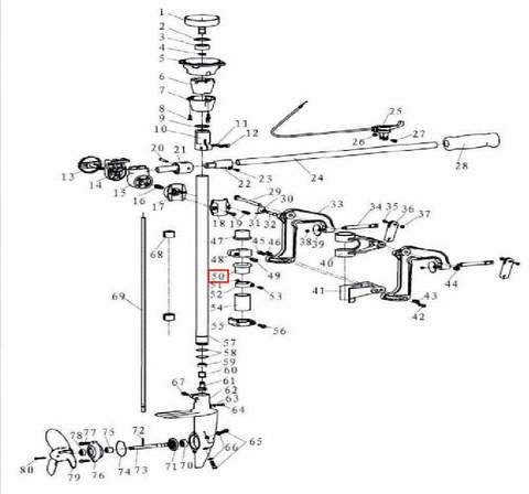 Втулка кронштейна нижняя для лодочного мотора T3,5 Sea-PRO