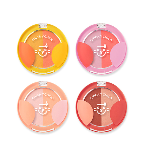 Румяна CHICA Y CHICO One Touch Ppyam Ppyam Duo Blusher 5g