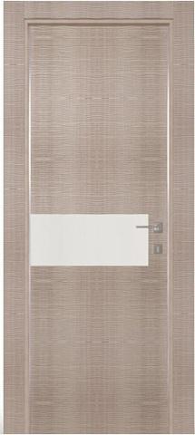 Дверь Zadoor AL3 Тара, цвет беленый дуб, остекленная