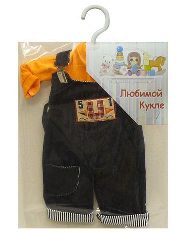 Полукомбинезон из вельвета - Упаковано. Одежда для кукол, пупсов и мягких игрушек.