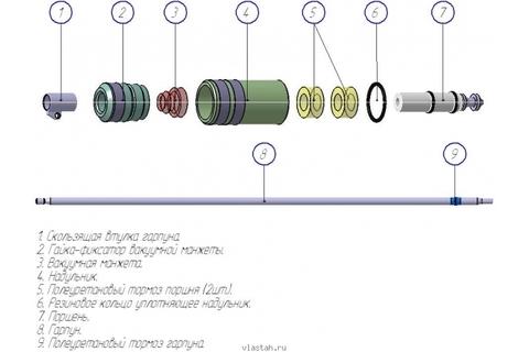 Пневмовакуумный набор(c 2 с гарпунами)