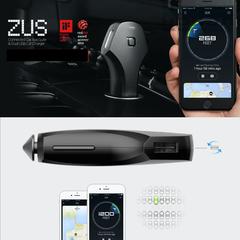Автомобильная зарядка nonda ZUS QC Quick Charge Car Charger с функцией обнаружения автомобиля