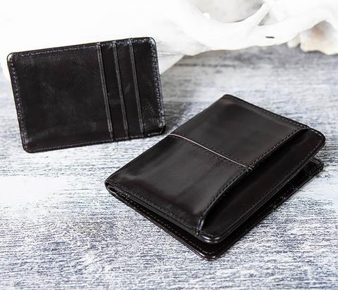 Кожаный кошелек с футляром для карточек
