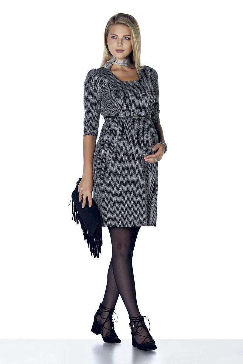 Платье 07881 серый