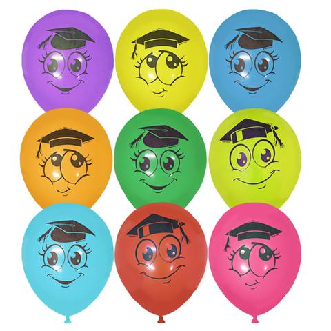 Разноцветные латексные шары на выпускной