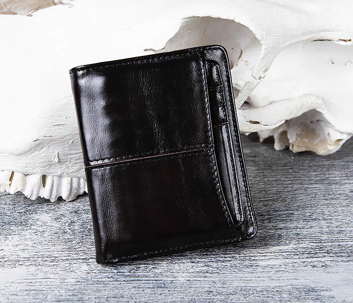 WL297-1 Кожаный кошелек с футляром для карточек фото 02