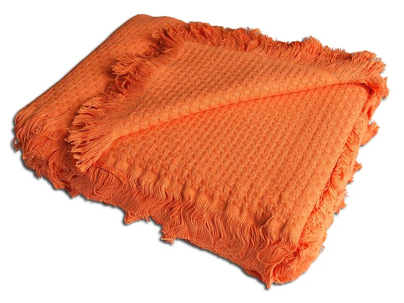 Покрывала Плед вязаный хлопковый  Design  оранжевый 1536 Buddemeyer Бразилия 1536.jpg