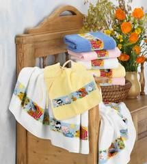 Элитный халат детский шенилловый Farm желтый от Feiler