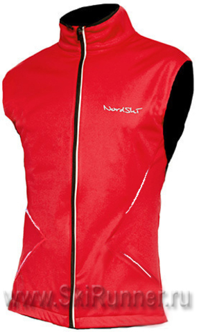 Лыжный жилет Nordski Premium Red/Black