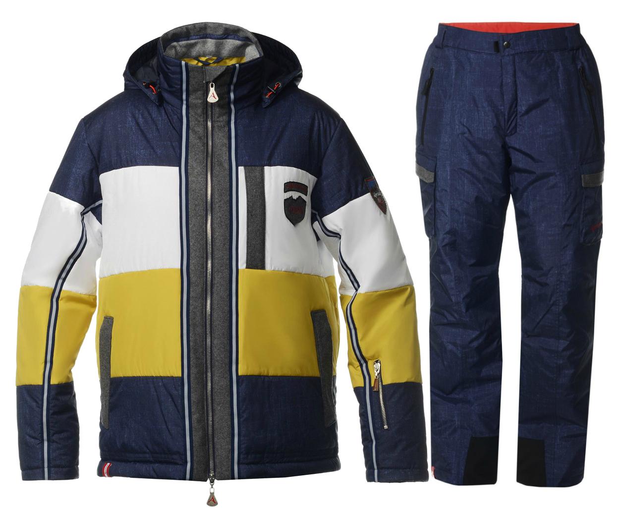 Мужской горнолыжный костюм Almrausch Steinpass-Hochbruck 320109-321300 джинс