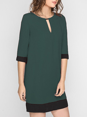 GDR011413 Платье женское. темно-зеленое