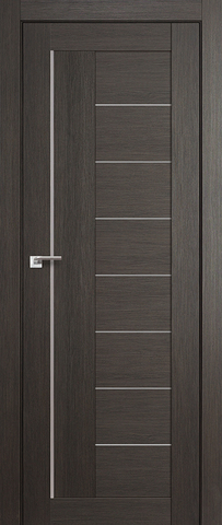 Дверь Profil Doors №17Х, стекло матовое, цвет грей мелинга, остекленная