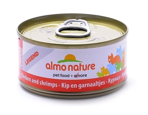 Консервы (банка) Almo Nature Legend Adult Cat Chicken&Shrimps