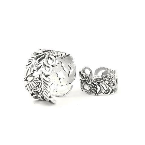 Set of rings Grape Vine, Sterling Silver