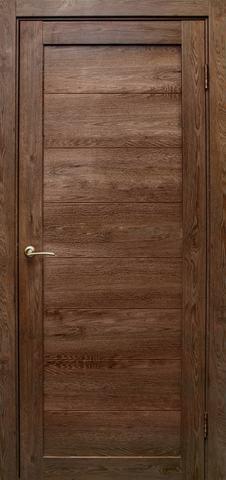 Дверь Эколайт Дорс Глухое, цвет дуб шоколадный, глухая