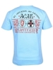 Футболка Варгградъ мужская голубая «1242»