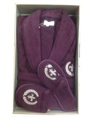 SEYMOUR - СЕЙМУР махровый мужской  халат с капюшоном и с тапочками / Maison Dor(Турция)