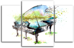 "Модульная картина ""Арт рояль"""