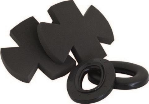 Сменные обтюраторы для наушников 3M™ Peltor™ Earmuff X5 (комплект), чёрные