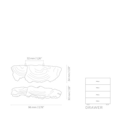 Мебельная ручка PullCast FUNGI EA1033