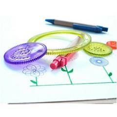 Детский рисоватор-спирограф, набор из 7 предметов