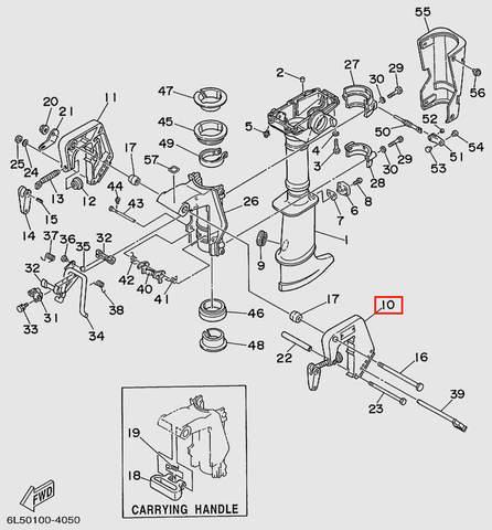 Скоба струбцины левая для лодочного мотора T3 SEA-PRO (15-10)