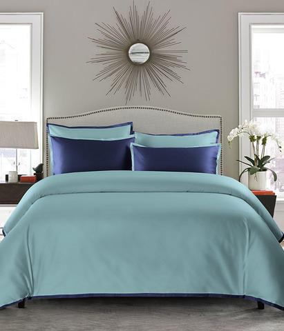 Постельное белье однотонное Coctail бирюза-синий, Sharmes