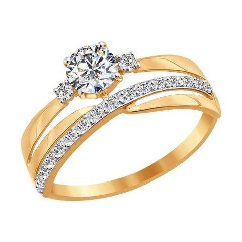 Кольцо из золота с фианитами арт. 016918 SOKOLOV