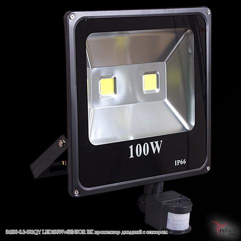 54100-0.2-001QY LED100W+SENSOR BK прожектор диодный с сенсором