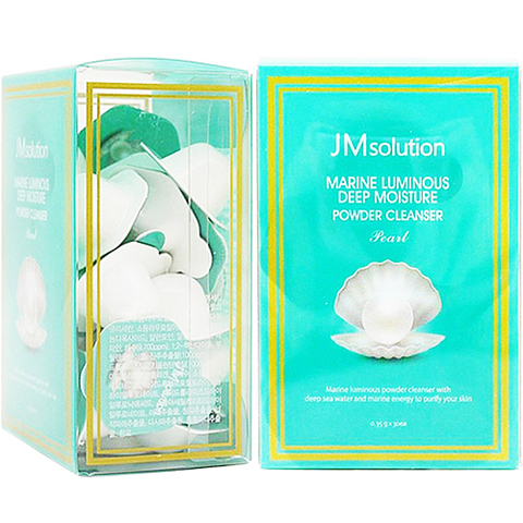 JMsolution Энзимная пудра с жемчугом - Marine luminous deep moisture powder cleanser pearl, 30*0,35г