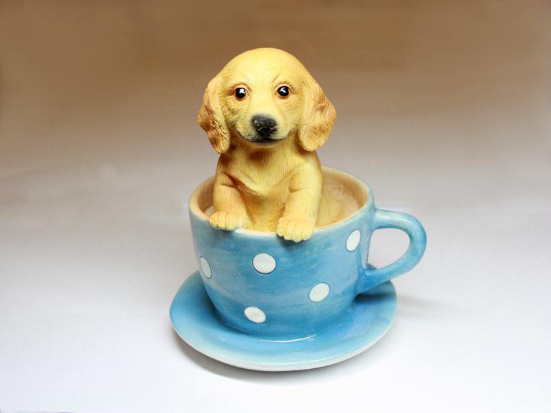 Щенок в чашке, форма силиконовая