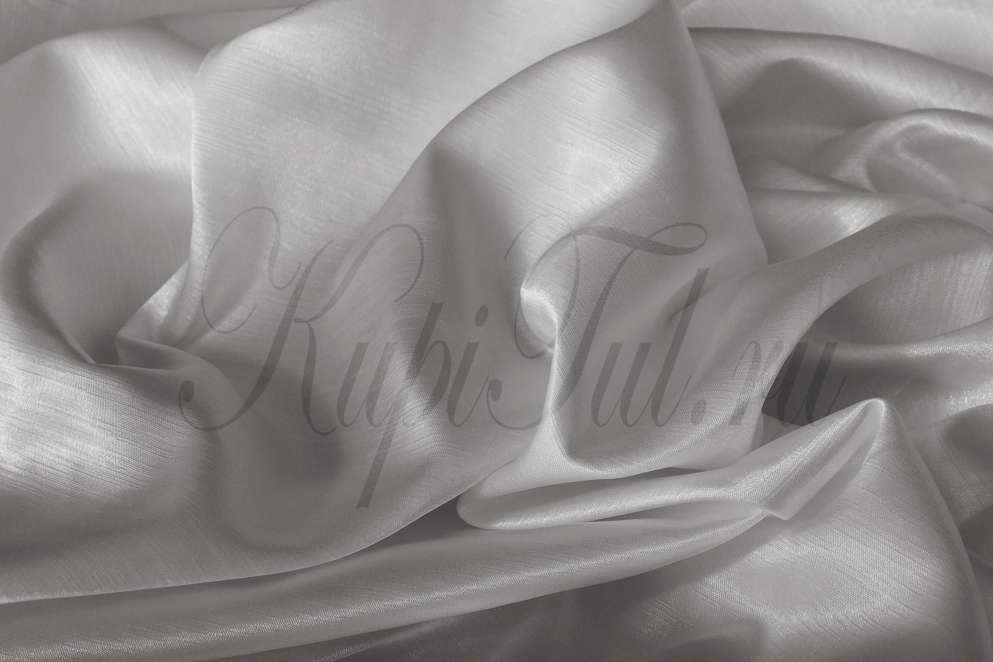 Длинные шторы. Leonardo (Серебро),  однотонный шик-сатен.