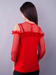 Жанна. Весенняя молодежная блуза. Красный