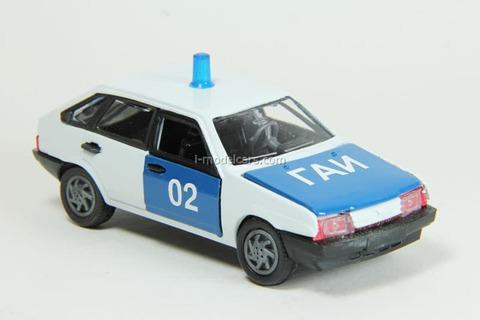 VAZ-2109 Lada Samara hatchback 5-doors GAI USSR Police Agat Mossar Tantal 1:43