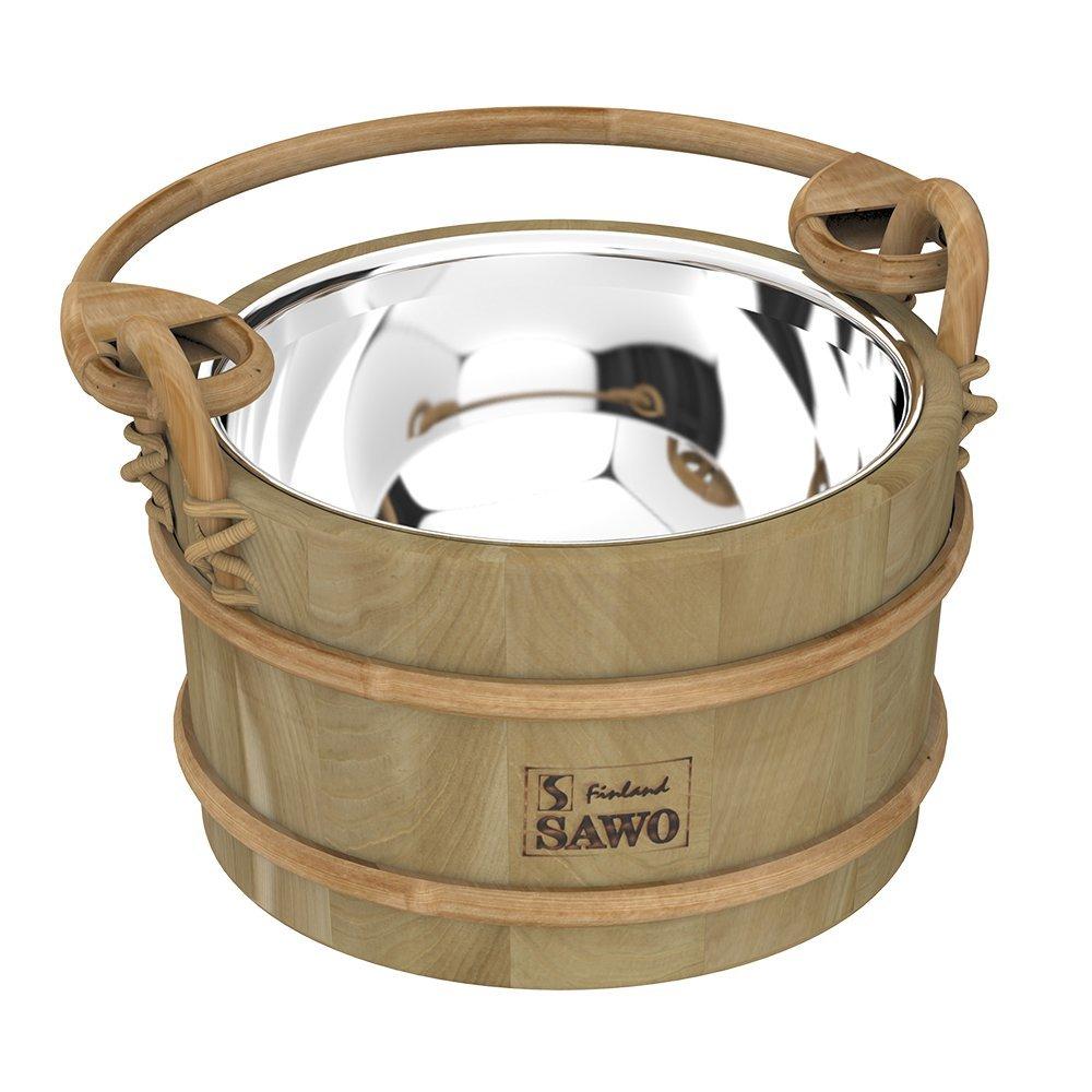 Фото - Ведра и кадушки: Ведро деревянное SAWO 341-MD (3 литра, со вставкой из нержавейки) ведра и кадушки кадушка деревянная sawo 330 p 3 литра с пластиковой вставкой