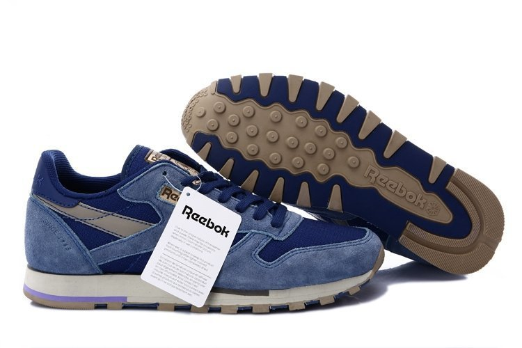 Reebok Classic Leather Utility (Blue/Cement/Canvas) (004)