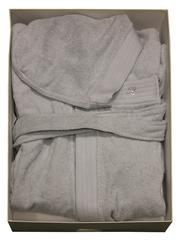 Халат махровый Blumarine Crociera серый