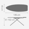 Гладильная доска 135x45 см Brabantia Ледяная вода