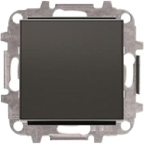 Переключатель промежуточный одноклавишный. Цвет Чёрный бархат. ABB Sky. 8110+2CLA850100A1501