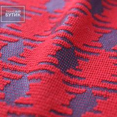 Красно-черная полосатая клетка с добавлением шерсти