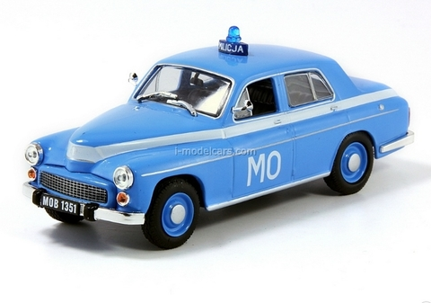 Warszawa 223 Poland People's Militia 1:43 DeAgostini World's Police Car #24