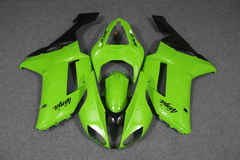 Комплект пластика для мотоцикла Kawasaki ZX-6R 07-08 Зелено-Черный